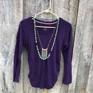 Liz Lange Maternity XS purple long sleeve tee top